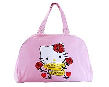 84e55f3ab Bolso de Hello Kitty para mujer - Bolsa Bowling Mode Original rosa SANRIO -  40 x 26 x 12 cm: Amazon.es: Hogar
