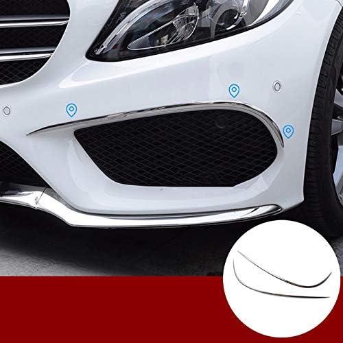 Edelstahl Frontspoiler Frontgrillspoiler Stoßstange Gitter Rahmen Zierleisten 2stk Auto