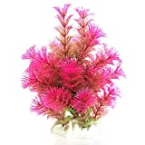 SUPPION Plastic Emulational Long Leaf Plant for Fish Tank Aquarium Decorative (Hot Pink)