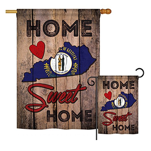 Cheap Ornament Collection S191139-BO State Kentucky Home Sweet Home Americana States Impressions Decorative Vertical House 28″ X 40″ Garden 13″ X 18.5″ Double Sided Flags Set Printed in USA Multi-Color