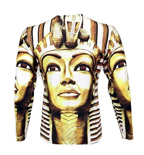 """Bleu Evolution Men's Long Sleeve Shirt """"Golden Pharoah"""""""