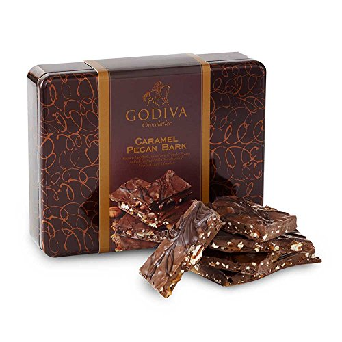 Godiva Chocolatier Caramel Pecan Bark Mother's Day Gift Box, 12 Ounces of Chocolate Bark