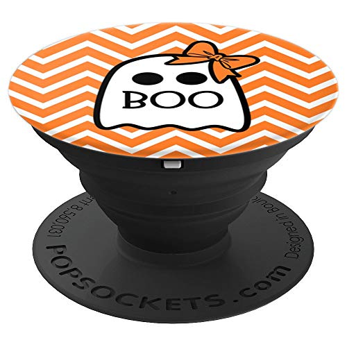Cute Halloween Boo Ghost Design with Ribbon Gift for Teens - PopSockets Grip and Stand for Phones and -