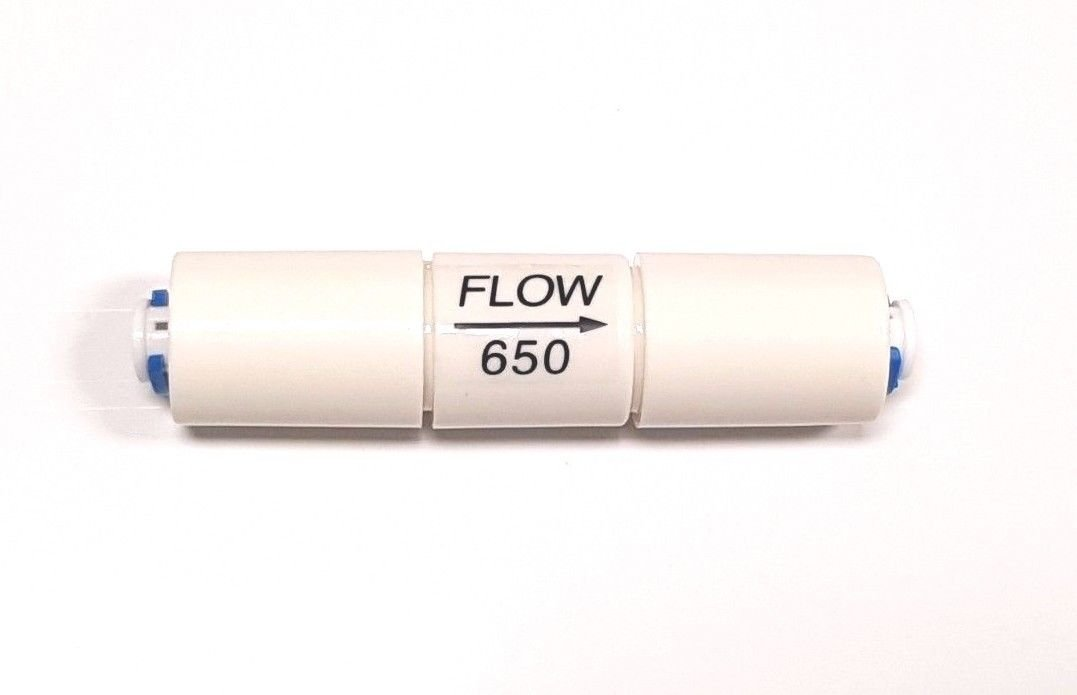 1/4'' Flow Restrictor 650 ML with Quick Connect for RO Reverse Osmosis
