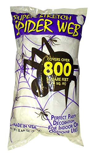 Fun World Super Stretch Spider Web for Halloween Indoor/Outdoor Decoration 8.4 oz ()