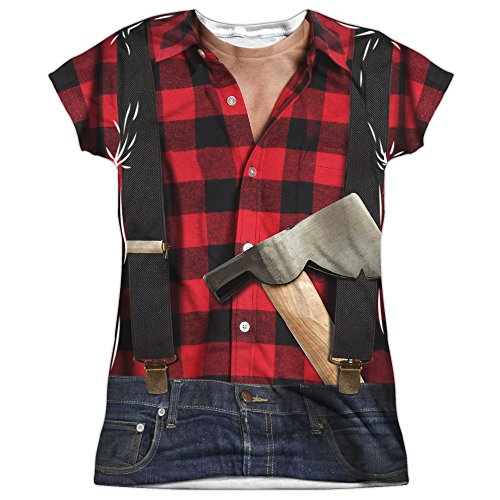 Lumberjack Costume Women's Front Only Sublimated T -