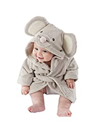 Verala Baby Hooded Towels Spa Bathrobe Binding Robe Washcloth 6-24 Months