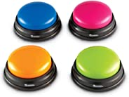 Learning Resources Answer Buzzers, Set of 4 Assorted Colored Buzzers, Ages 3+
