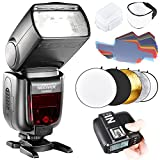 Neewer TTL Flash for Sony New Mi Hot Shoe Camera GN60 HSS Wireless 2.4G Master Slave Speedlite includes N1T-S Trigger,Hard and Soft Diffuser,20 Pieces Color Filter and 5-in-1 Reflector