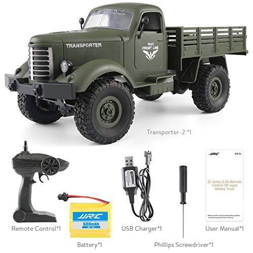 Nowakk JJRC Q61 1:16 RC Máquina 2.4G Control Remoto 4 Rueda de Tracción Fuera de Carretera Militar RC Camión de Juguete Eléctrico para niños: Amazon.es: ...