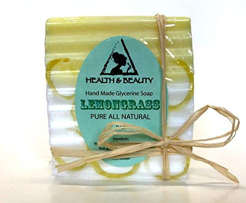 Lemongrass Soap Bar Hand Made Natural Relaxing Calming Moisturizing Body and Skin 100% Pure