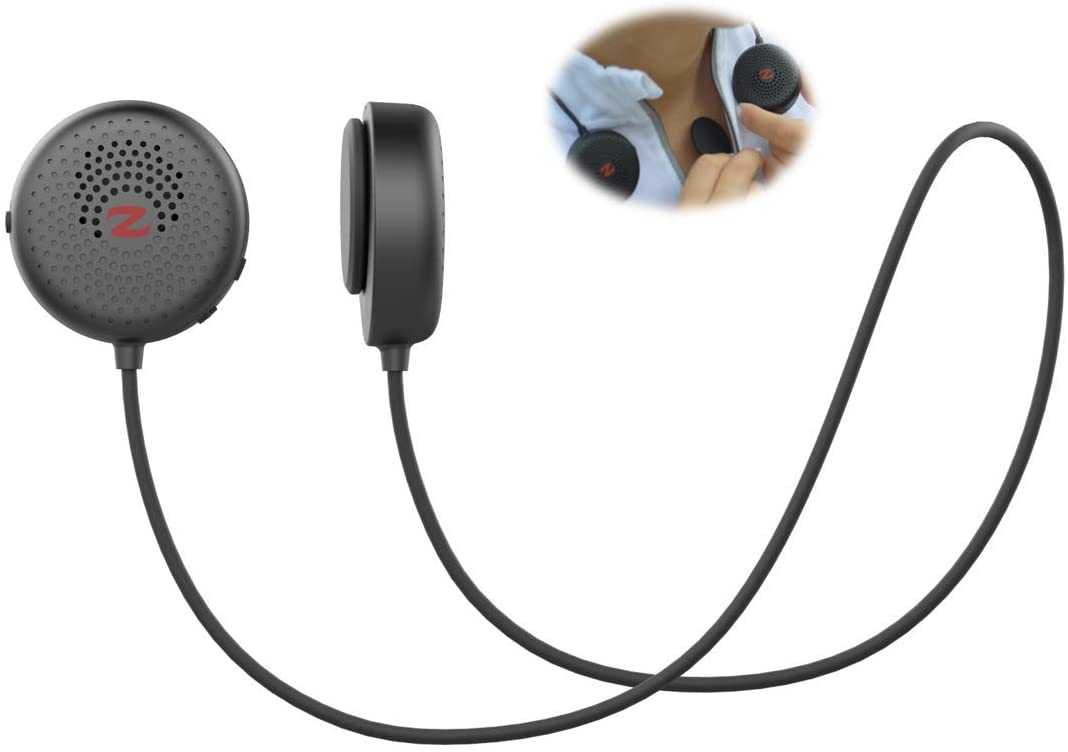 Zulu Audio Magnetic Wearable Bluetooth Speakers (Black) for Running, Bicycling, Hiking, with Microphone