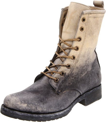 FRYE Women's Veronica Combat Boot Stone Stone Washed-76272
