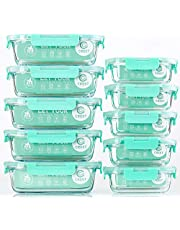 10 Pack Glass Containers Set