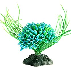 Hot Sale!Lucoo Fashion Aquarium ModelingLandscaping Plants Ornamental Aquatic Plastic Multicolored Ball (Mint Green)