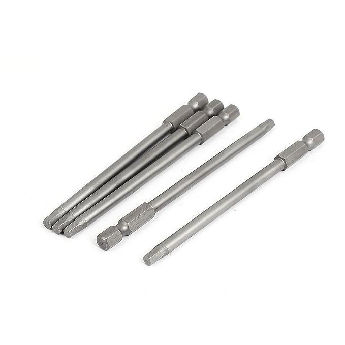 """5Stück 6/""""lang H4.0 Sechskant Magnet Einsatz Innensechskant Schraubendreher Bits"""