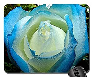 Blue Mouse Pad, Mousepad (Flowers Mouse Pad, Watercolor style)