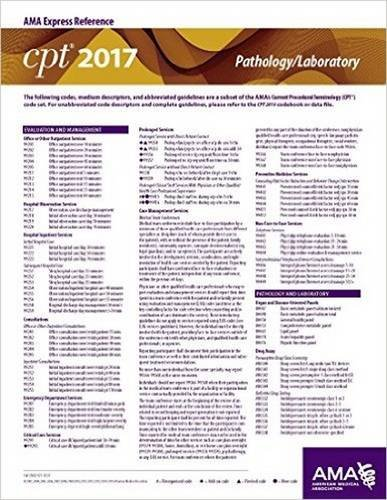 CPT 2017 Express Reference Coding Card: Pathology / Laboratory (CPT 2017 Express Reference Coding Cards)