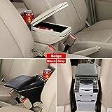 SZSS-CAR Leather Car Center Console Armrest Box for Honda Hatchback Fit Jazz 2014 2015 2016 2017 Armrests Storage Box