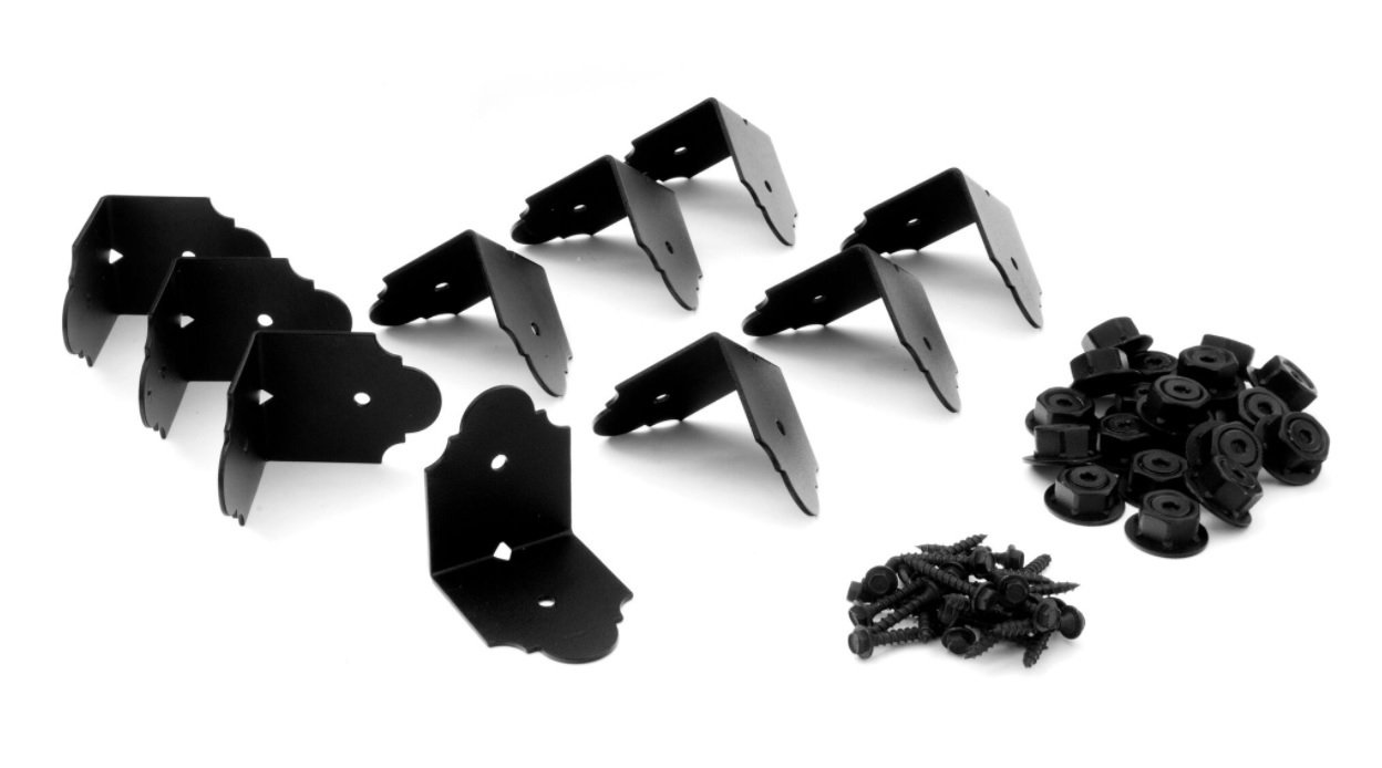 4 in. Decorative Rafter Clip Angle Brackets