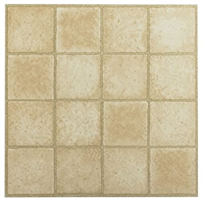 Achim Home Furnishings FTVGM30820 Nexus 12-Inch Vinyl Tile, Geo 16 Square Sandstone, 20-Pack