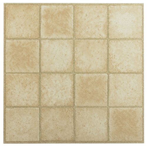 Valentine Tile (Achim Home Furnishings FTVGM30820 Nexus 12-Inch Vinyl Tile, Geo 16 Square Sandstone, 20-Pack)