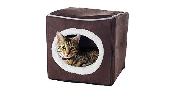 Amazon.com: Cama para mascota en forma de cubo cerrado ...