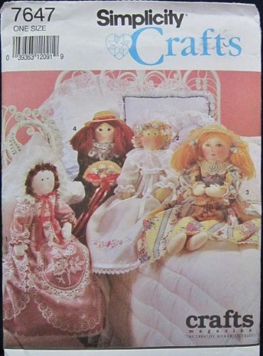 Bed Doll Pattern - Simplicity Crafts 7647 Bed Dolls 28