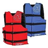 O'Brien 2181702 Adult 4 Pack Life Vest, Red