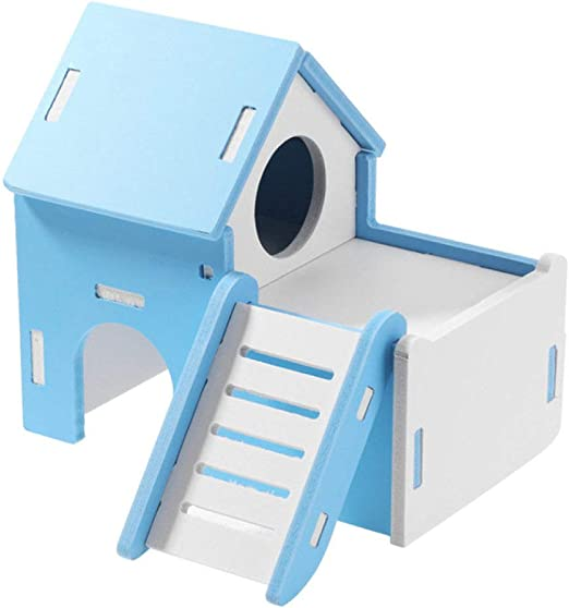 CCEKD Jaula Pequeño Pet Entertainment Sport Game House Color Hamster Escalera de Juguete de Madera Ejercicio Hamster Ladder, Azul: Amazon.es: Productos para mascotas