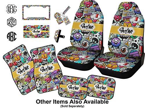 Graffiti car seat covers set of two personalizzato : amazon.it