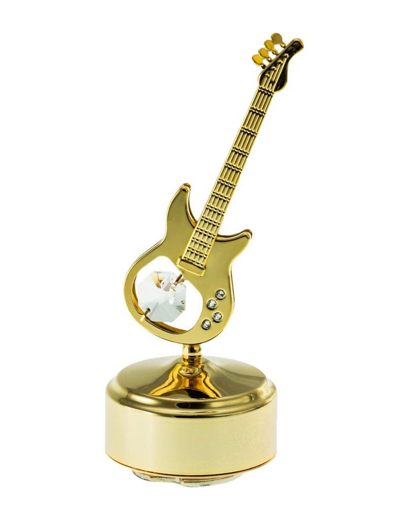 Amazon.com: Guitar 24k Gold Plated Swarovski Crystal Rotating ...