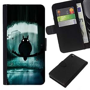 JackGot ( Totoro ) HTC DESIRE 816 la tarjeta de Crédito Slots PU Funda de cuero Monedero caso cubierta de piel