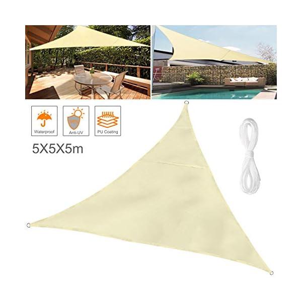 Wokkol Tende da Sole per Esterno, Tende da Sole, Tenda Parasole Esterno, Vela Ombreggiante, Protezione Raggi UV Vela… 1 spesavip