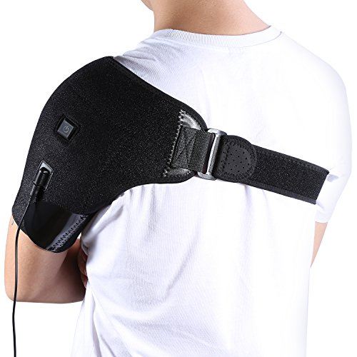 Yosoo Heated Shoulder Brace Adjustable Neoprene Shoulder Support - Microwavable Heating Sacks