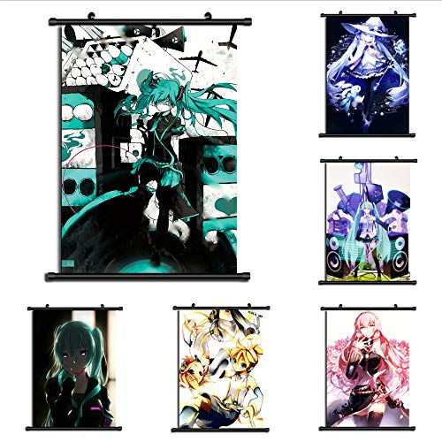 unbrand Vocaloid Hatsune MikuAnime Wall Poster Scroll Room Home Decoration Wall Art