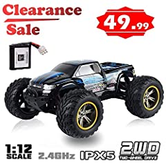 Top speed 33+MPH 2.4Ghz Radio system Rubber tire with Sponge insert Rear wheel drive, super sport With Ball Bearing With Steering servos A Hobby model Level truck, with toy's price Specifications: Color: Blue Radio system: 2.4Ghz Speed: 33+MP...