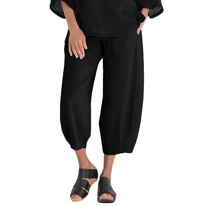Geilisungren Mujer Pantalón Estampado Yoga Pantalón-Anchos ...
