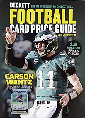 ce896fa4b49 2018-19 Beckett Annual Football Card Price Guide 35th Edition Eagle Carson  Wentz