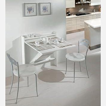 Consola ahorra-espacio que se convierte en mesa de comedor o ...