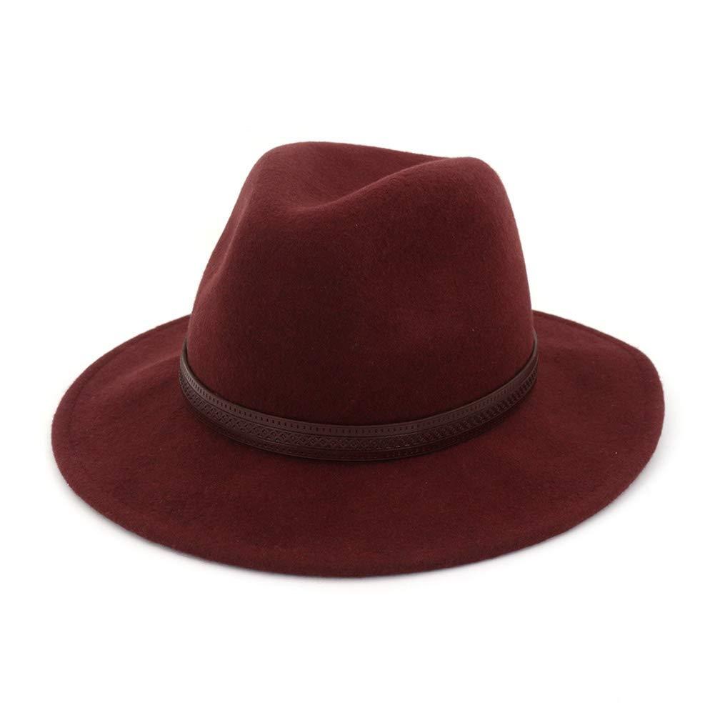 Men Wide Brim Wool Fedora Hat Classic Timeless Trilby Hat Vintage Jazz Cowboy Hat