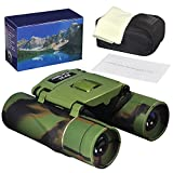 Cheap OWSEN 8×21 Binoculars, Waterproof Compact Binoculars for Adults, Mini Foldable Pocket Kids Binoculars w/ BAK4 Prism Fully Coated Lens for Outdoor Travel Hiking Bird Watching (0.37lb)