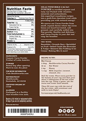 Healthworks Cacao Powder Organic, 3lb by Healthworks (Image #4)'