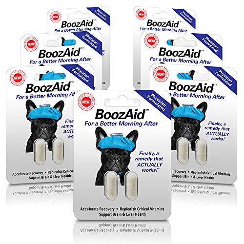 BoozAid Hangover Prevention & Remedy Pills - Support The Brain, Liver and Stomach to Relieve Hangover Symptoms After or Before Excessive Drinking (7 Pack)