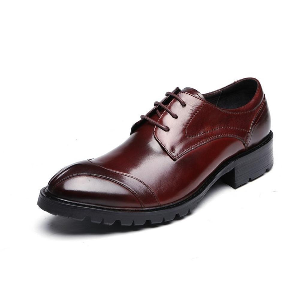 XIE Männer Formal Hochzeit Geschäft Clever Oxford Leder Schuhe Schnüren Clever Geschäft für Männer Schwarz Braun Büro Arbeit Party c85b03