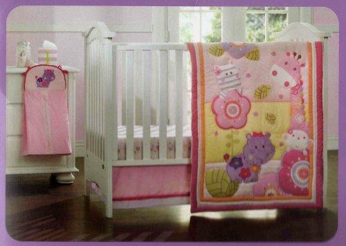 Kidsline Girly Girl Jungle Crib Set - 4pc