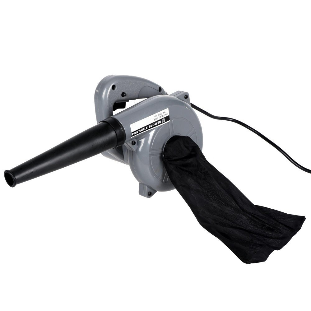 loukou Professional 500W Electric Leaf Blower and Handheld Vacuum Cleaner,Dust Leaf Pro Blower Sweeper Vacuum Cleaner for Shop Garage Garden(US Stock) (gray)