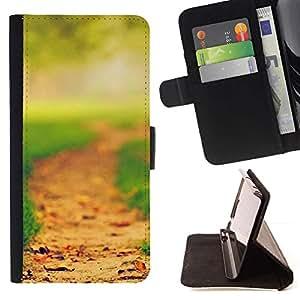 For Sony Xperia Z2 D6502 Case , Forest Park- la tarjeta de Crédito Slots PU Funda de cuero Monedero caso cubierta de piel