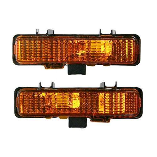 Bumper Mounted Corner Parking Marker Light Pair Set for GM Pickup Truck S10 S-15