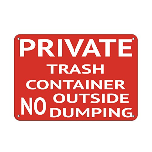 Private Trash Container No Outside Dumping Security Sign Vinyl Sticker Decal 8